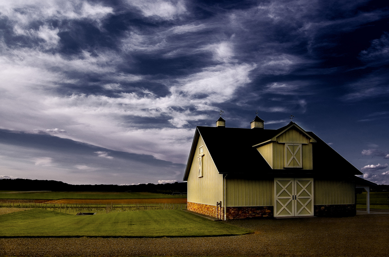Barn In Early Evening