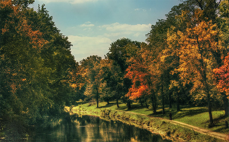 Canal In Early Fall