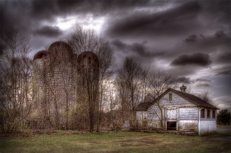 Tool Shed And Silos
