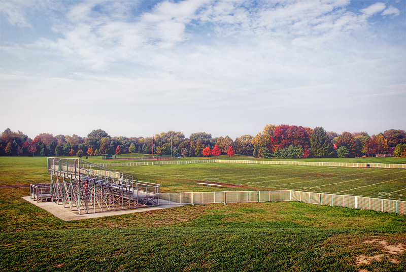 Practice Field On A Fall Morning